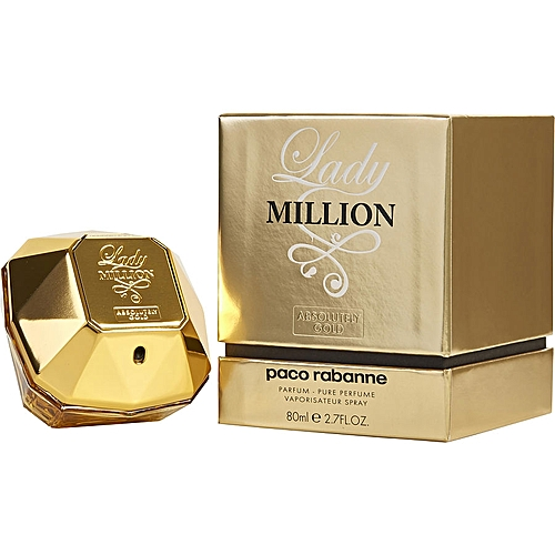 Paco Rabanne Lady Million Absolutely Gold Parfum Pure Perfume 80ml