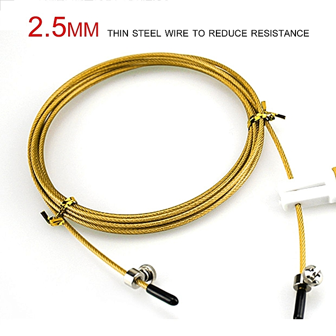 Buy Generic UJ 3m Steel Wire Speed Skipping Jump Adjustable , Yellow ...