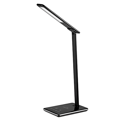 GB Eye Care LED Light Student Desk Lamp QI Wireless Charger For Smart Phones-black