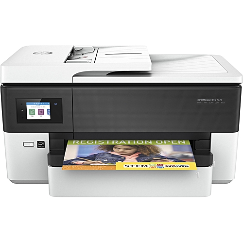 OfficeJet Pro 7720 Wide Format All-in-One Color Printer (Print/Copy/Scan/Fax) Plus 2 Free Sheet A4 Photo Paper