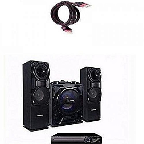 Polystar Mini Hifi Bluetooth Sound System With Built-In Amplifier - Pv-Sub811 + Free HDMI Cable