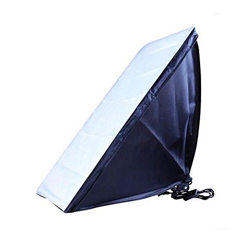 50 X 70CM Softbox With E27 Single Photography Lamp - Silver + Black