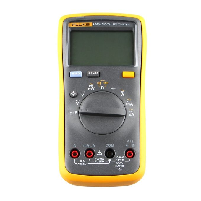 15B+ Auto Digital Multimeter - Yellow + Black (2*AA)
