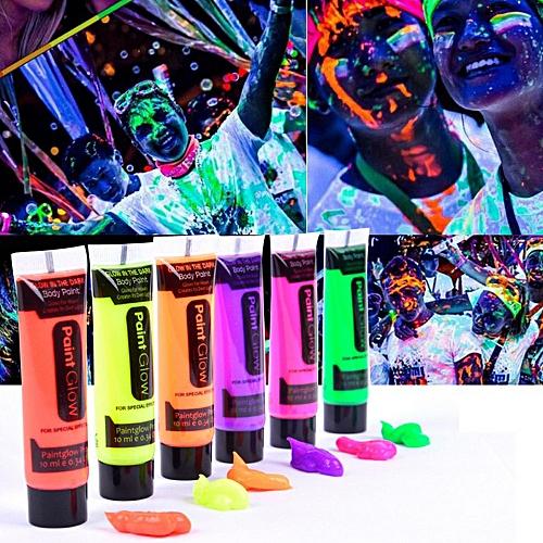 Fashion 6 Colors Body Art Paint 10ml UV Glow Face Body Paints Beauty ... f02be4d6f1