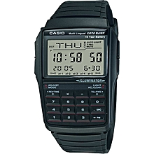 25be42ed799b DBC32-1A Men  039 s DataBank Black Digital Small Size Watch
