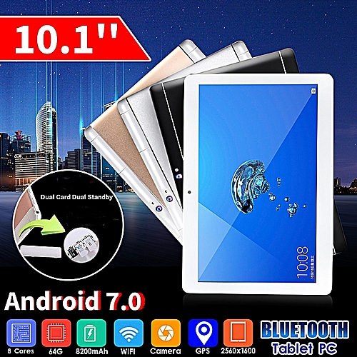 10.1'' 4G+64GB Android 7.0 Tablet PC Octa 8 Core HD WIFI Bluetooth 2 SIM 4G Hot Sold