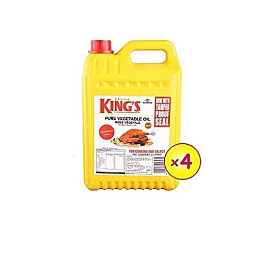 DEVON KING'S Vegetable Cooking Oil 5litre X4 Bottles (1 Carton).