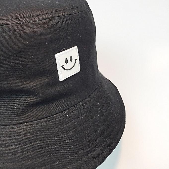 38d2d624e5e272 ... Fashion Bucket Hat Smiling Face Unisex Fashion Bob Cap Hip Hop Gorro  Men Summer Caps Beach ...