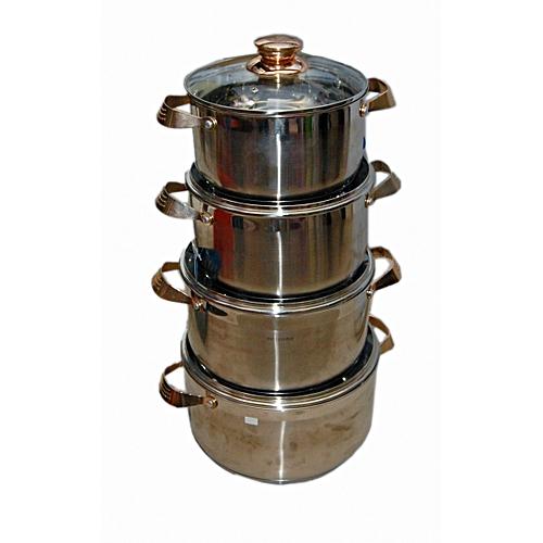 Hoffavorer 4-Set Of Pot Stainless Steel