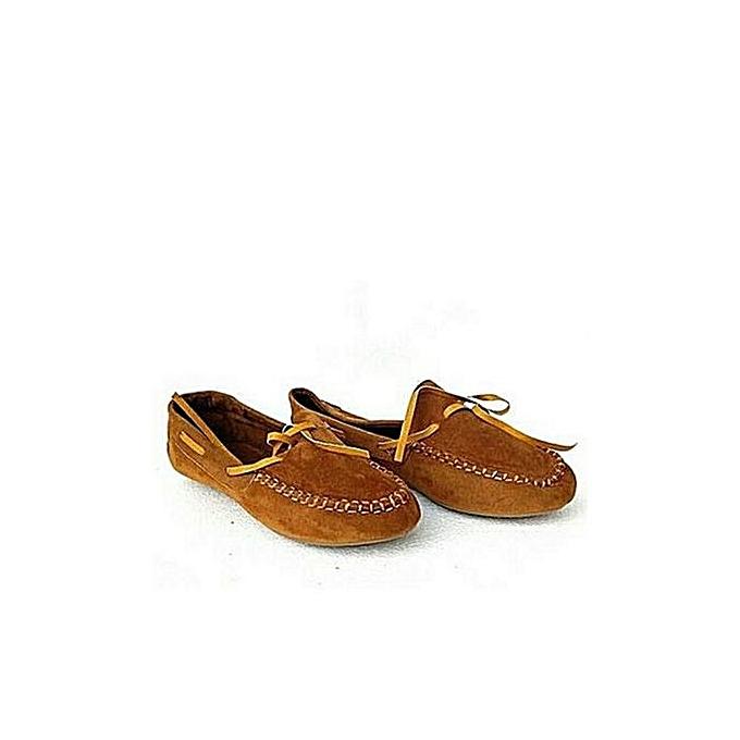 2cc59a60cc3 Fashion Fashion Ladies Loafers- Brown