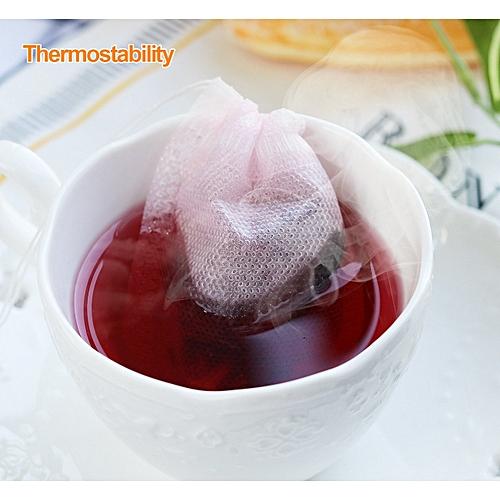 100PCS Teabag Empty Nonwoven Disposable Multiusage Scrolling Tea Filter Size 7cm * 9cm
