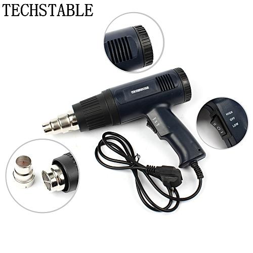 Electric Heat Gun Hot Air Gun 1800W Dual Temperature Metal Nozzle Adjustable Electric Power Tools