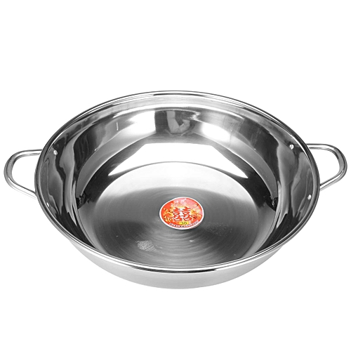 38cm Stainless Steel Hot Pot Induction Compatible Shabu Cooker Kitchen Cookware