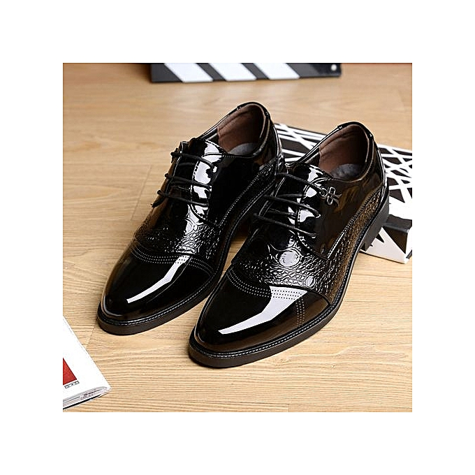 5c4135ae7 Men s Dress Modern Classic Lace Up Leather Slip On Formal Shoes Men Genuine  Leather Casual Shoes