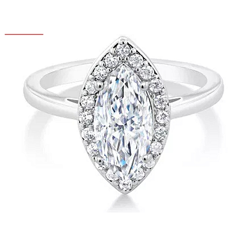 BLiNG 2.50 Ct Bridal Vintage Marquise White Zirconia Engagement Ring