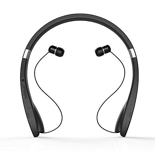 SX-991 Wireless Bluetooth Neckband 4.1 Sport Stereo SX991 Earphone Headphone With MIC Bass For IPhone LG Android (Black)