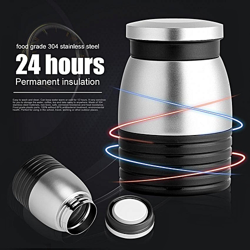KAXIFEI Stainless Steel Vacuum Thermal Cup Insulated Travel Mug Flask Heat Water Bottle Coffee Cup Black