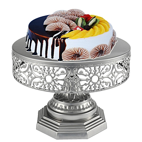 25cm Wedding Cake Stand Round Iron Event Party Display Pedestal Plate Tower