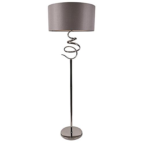 Silver Spiral Floor Lamp