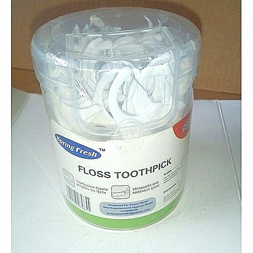 Dental Floss Toothpicks - 100pcs Plastic Toothpick