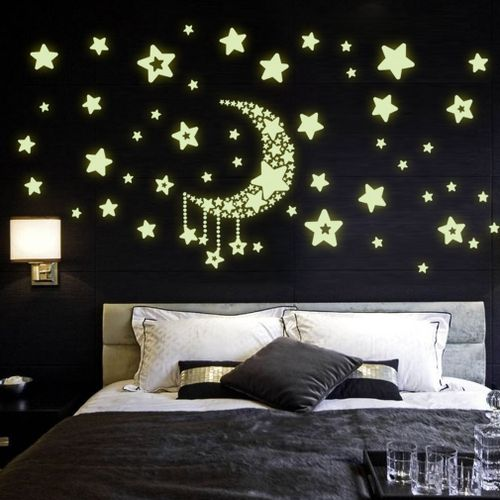 DIY Night Light Glow In The Dark Moon Stars Wall Stickers Home Decor Decals Part 34
