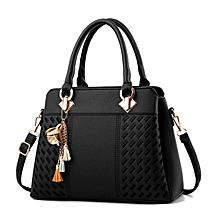 77f1c5763c6 High Quality Lady Fashion Shoulder Women Pu Leather Handbag - Black