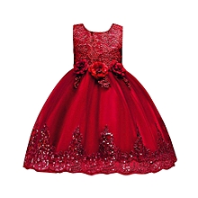dddce629bcae0 Floral Baby Girl Princess Bridesmaid Pageant Gown Birthday Party Wedding  Dress Musiccool
