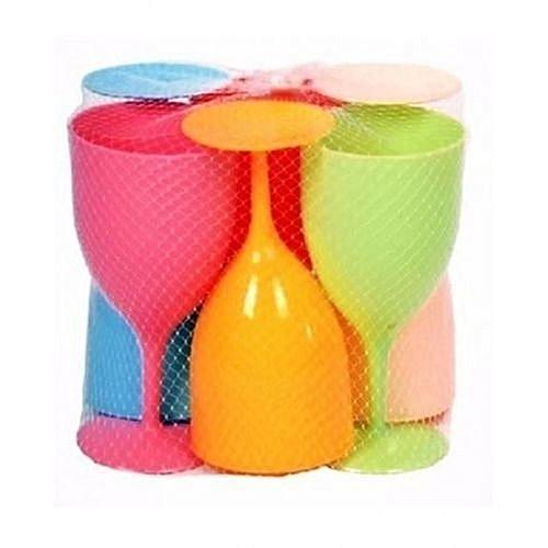 Plastic Wine Cups - 6pcs Set