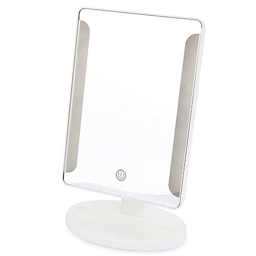 Fashion 36 LED USB Power Portable Folding Toilet Lighted Makeup Mirror-WHITE