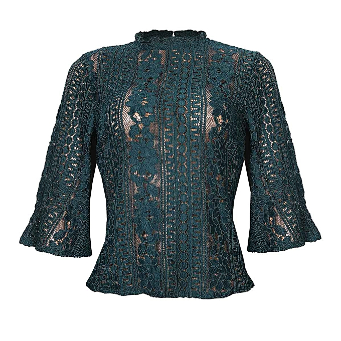 d879ebc51eed8e Primark Bell Sleeve Lace Top- Green | Jumia NG