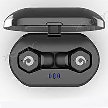 4a752965bdd F8 Waterproof Ture Wireless Sport Earbuds -Black