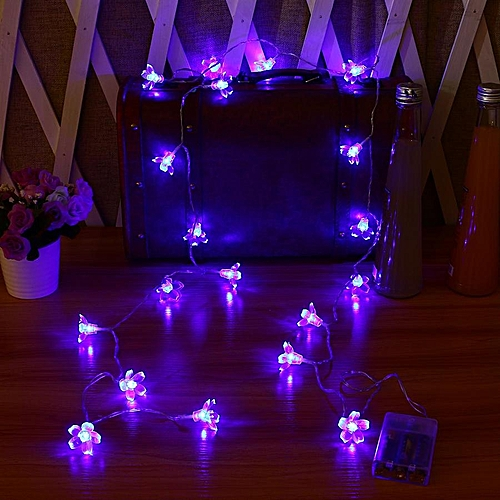 KCASA 5M 50 LED Sakura Flower String Lights LED Fairy Lights For Festival Christmas Halloween Party Wedding Decoration Battery Powerd