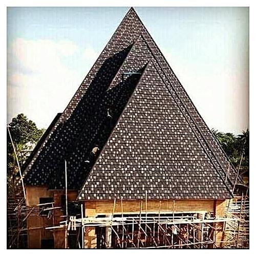 Black And White Shingle Stone Coated Roofing Sheet