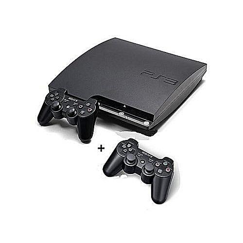 PS3 Slim 500GB +2 Controller+ 20 Bonus Games {FiFa19+Pes19}