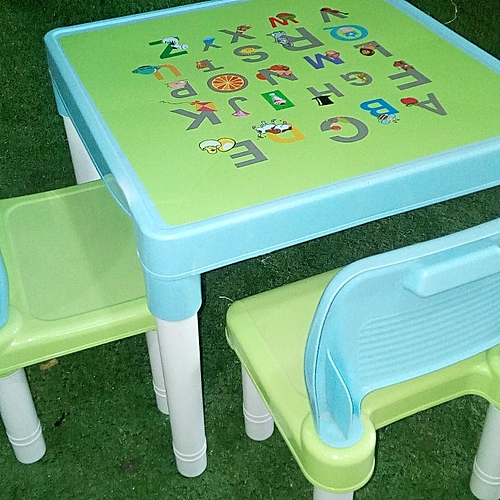 Kids / Children's ABC Alphabets Multi-Purpose Learning Reading Play & Activities Chair /Table Set (1 Chair &1 Table) - Birthday Gift For A Child