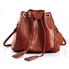 16a21ca6c01 Lady Soft Beautiful Drawstring Shoulder Bag Handbag Cross Body Bags Brown