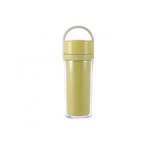 Double Layer Portable Water Drink Bottle Outdoor Sport Cup