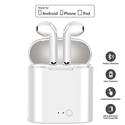 Stereo Earbud Headset Wireless Bluetooth Earphone