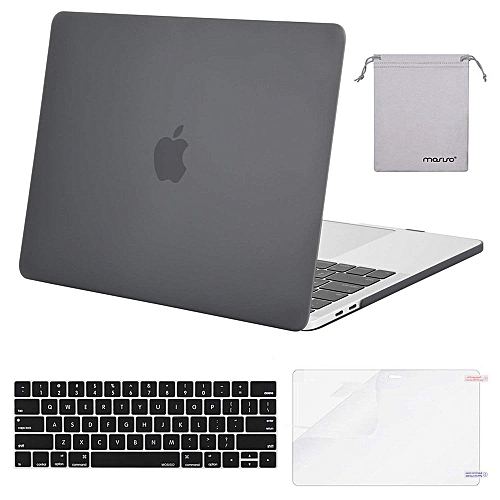 Laptop Plastic Hard Case For MacBook Pro 13 Case 2018 2017 2016 Release A1989/A1706/A1708 Newest Mac Pro 13 Inch, Gray