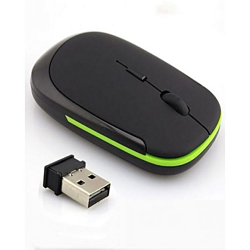 Wireless Mouse USB 2.4GHz - 4D Optical Mouse - Black