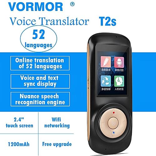 Portable Smart Voice Translator T2S 70 Languages Two-way Real Time Multi-Language Translator Free Shipping DJLAB