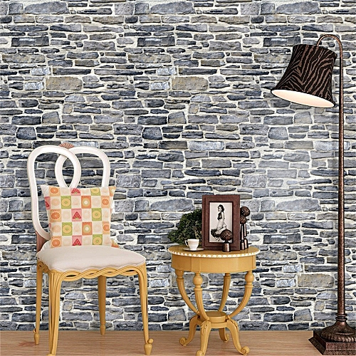 generic 3d wall paper brick stone effect self-adhesive wall sticker