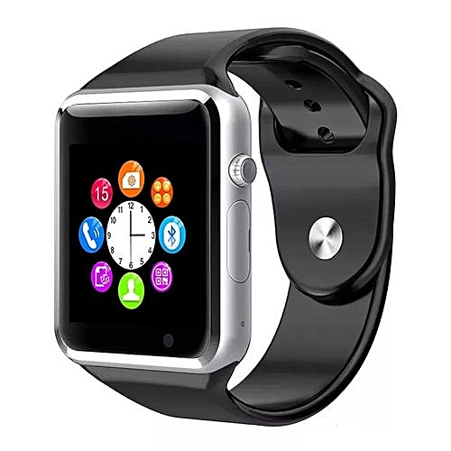 A1 Bluetooth Smart Watch Sport Pedometer With SIM Slot Camera Smartwatch For Android IOS Phone Black