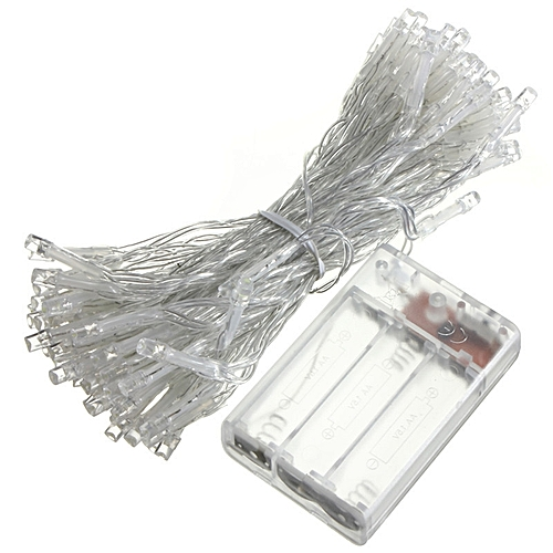 10M 100LED Battery Powered Starry Fairy String Lights Xmas Garden Wedding Party Warm White