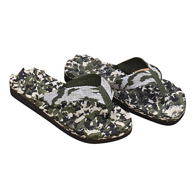 b30b0948f3fde4 StreamceMen Summer Camouflage Flip Flops Shoes Sandals Slipper Indoor    Outdoor GN42 -Green