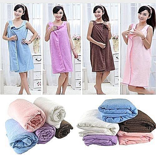 Female Bath Robe / Body Wrap Towel - Multicolour