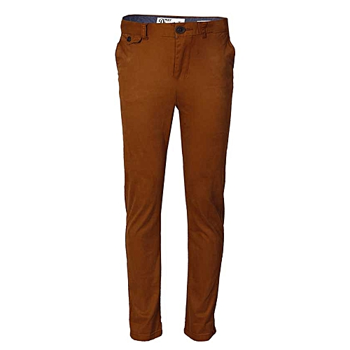 Boys 5 Pocket Chinos Trousers - Brown