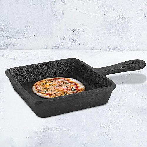 Mini Durable No Coating Iron Cooking Frying Pan Black