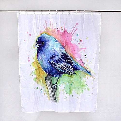 Dtrestocy Custom Animal Fabric Waterproof Bathroom Shower Curtain E