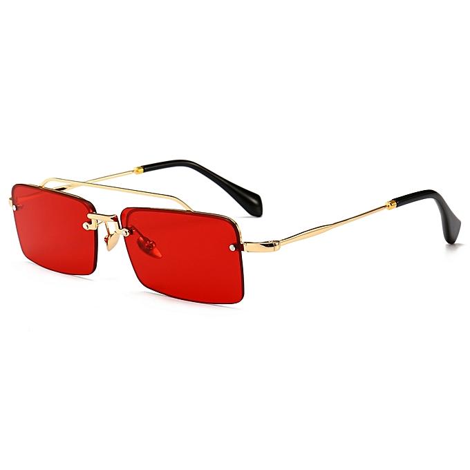 9a22eb7d32 Retro Rectangle Sunglasses Men Metal Frame Semi Rimless Square Sun Glasses  For Women 2018 Summer-